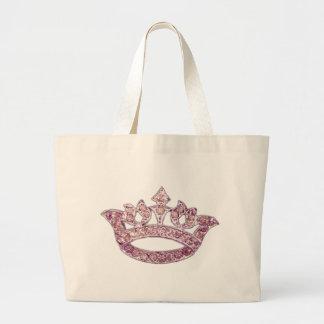 Vintage Crown Royal Pink Jewel add Name Jumbo Tote Bag