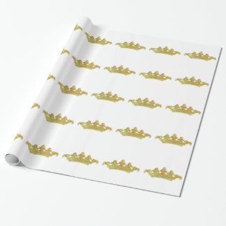 Vintage Crown Wrapping Paper