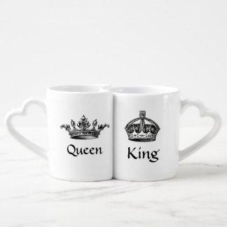 Vintage Crowns Queen/King LOVE Mugs