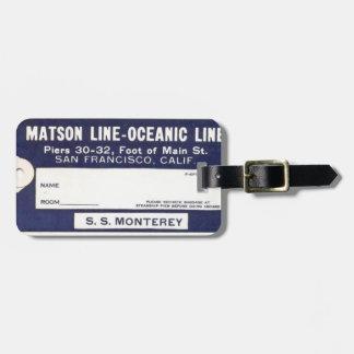 Vintage Cruise Line Luggage Tag