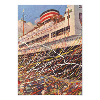Vintage Cruise Ship Bon Voyage Party Invitation