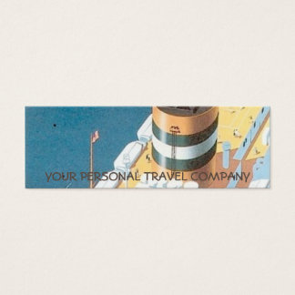 VINTAGE CRUISE SHIP POSTER - MINI BUSINESS CARD