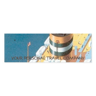 VINTAGE CRUISE SHIP POSTER - PACK OF SKINNY BUSINESS CARDS
