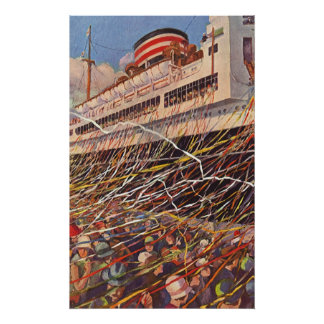 Vintage Cruise Ship Vacation; Bon Voyage Party! Poster