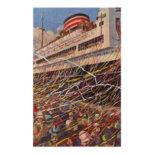 Vintage Cruise Ship Vacation; Bon Voyage Party! Posters