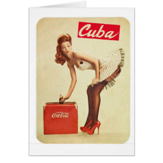 Vintage Cuba Small RetroCharms Refreshment Card