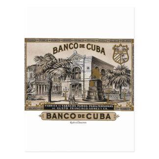 Vintage Cuban Bank of Cuba of Cuba Postcard