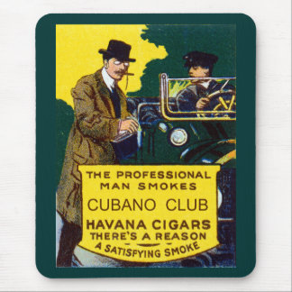 Vintage Cubano Club Cigars Mouse Pad