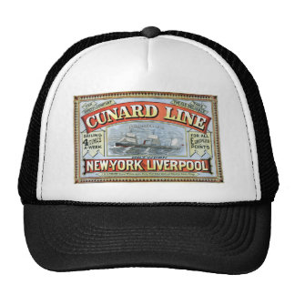 Vintage Cunard Line Sailing New York to Liverpool Cap