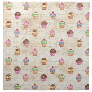 Vintage Cupcakes Napkins
