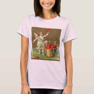 Vintage, Cupid Angel, Arrows, Hearts T-Shirt