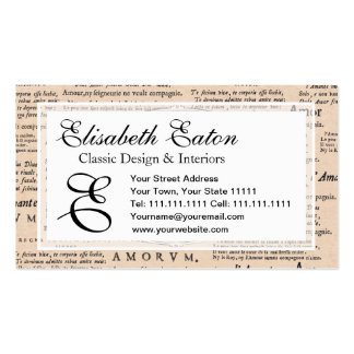 Vintage Cupid in Love Romantic Wedding Engagement Business Cards