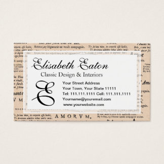 Vintage Cupid in Love Romantic Wedding Engagement Business Card