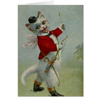 Vintage Cupid Kitty, Card