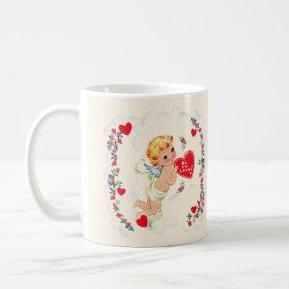 Vintage Cupid Valentine Coffee Mug
