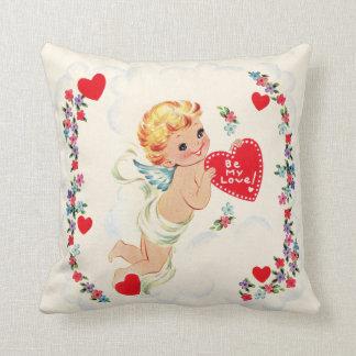 Vintage Cupid Valentine Pillow