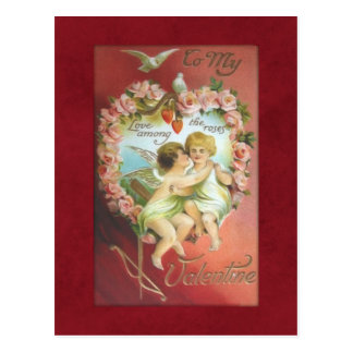 Vintage Cupids Valentine Postcard