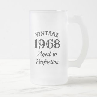 Vintage custom beer mug gift for men's Birthday