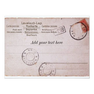 Vintage customizable postcard Design 14 Cm X 19 Cm Invitation Card