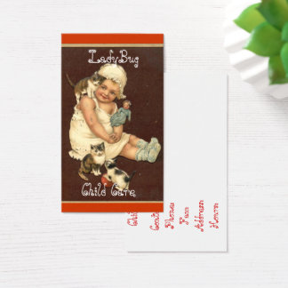 Vintage, Cute Baby, Child Care, Custom Business Card