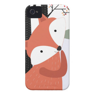 Vintage cute baby fox wolf smile happy in garden iPhone 4 Case-Mate cases
