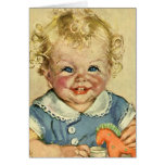 Vintage Cute Blonde Scandinavian Baby Boy or Girl Greeting Card