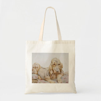 Vintage Cute Bloodhounds, Puppy Dogs by EJ Detmold Tote Bag