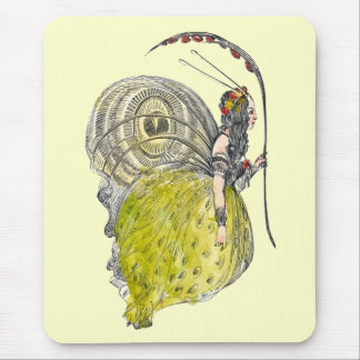 Vintage Cute Fantasy Butterfly Fairy with Wings Mousepad