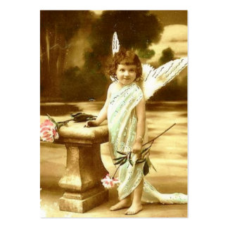 Vintage cute girl angel Card Business Card