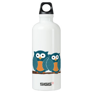 Vintage Cute Owls Recycle Sign SIGG Traveller 0.6L Water Bottle