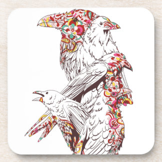vintage cute parrots and animals coaster