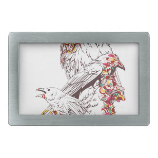 vintage cute parrots and animals rectangular belt buckles