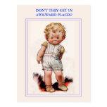 Vintage cute postcard. postcard