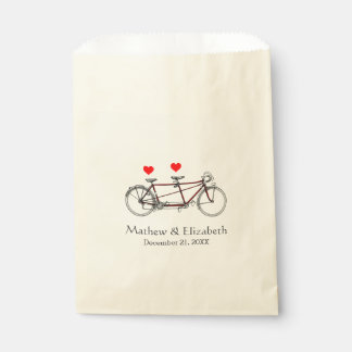 Vintage Cute Tandem Bicycle Custom Wedding Favour Bag