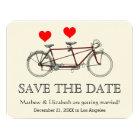 Vintage Cute Tandem Bicycle Wedding Save The Date Card