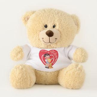 Vintage Cute Valentine's Day, Child Music Banjo Teddy Bear