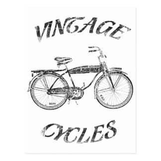 vintage cycles postcard