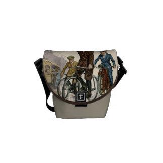 Vintage Cyclists Mini Messenger Bag