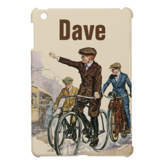 Vintage Cyclists Personnalised Cover For The iPad Mini