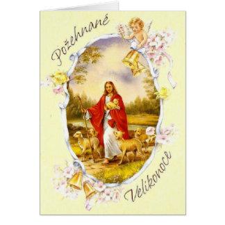 Vintage Czech / Slovak Religious Easter Card