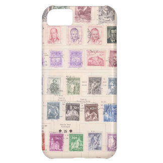 Vintage Czechoslovakian Postage Stamps iPhone 5C Case