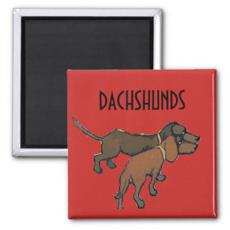 Vintage Dachshunds,add text Magnet