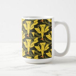 Vintage Daffodils Basic White Mug