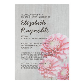 Vintage Dahlia Bridal Shower Invitations