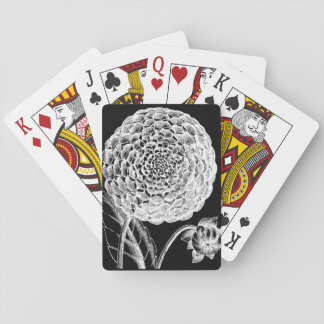 Vintage Dahlia Playing Cards