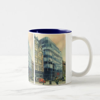 Vintage Daily Express Building on Fleet Street Two-Tone Mug