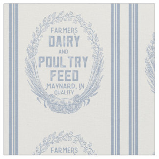 Vintage Dairy Poultry Feed Sack Design Fabric