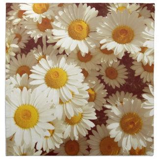 Vintage daisies napkin