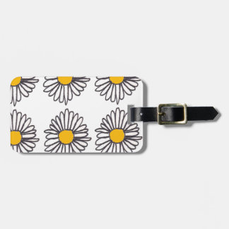 Vintage Daisy Doodle Tags For Luggage