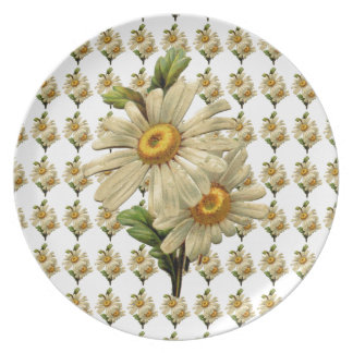 Vintage Daisy Party Plate